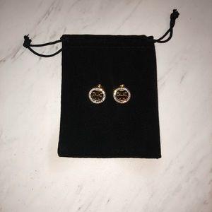Tory Burch Jewelry - Tory Burch logo rhinestone earrings